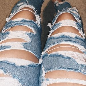 American Eagle Stretch Distressed Jeggings